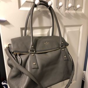 Stunning Kate Spade weekender bag in gray leather